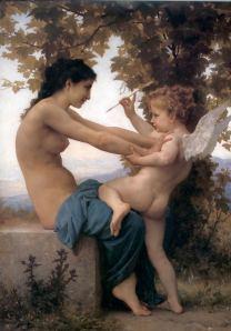 Jovem defende-se de Cupido